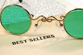 stock photo of bifocals  - Photo of Bifocals on a Book  - JPG