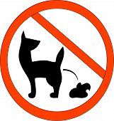 picture of turds  - No Dog Poop Zone Sign  - JPG