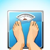 Feet on Weighing Machine