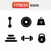 Weight Icon Strength. Weight Vector Icons. Weight Dumbbell poster