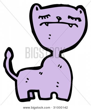 cartoon arrogant cat