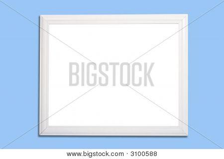 White Frame Or Marker Board On Blue