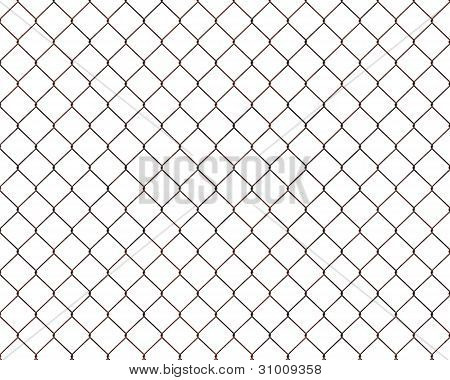 Rusty Chainlink Fence