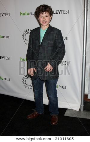 LOS ANGELES - MAR 14:  Nolan Gould arrives at the
