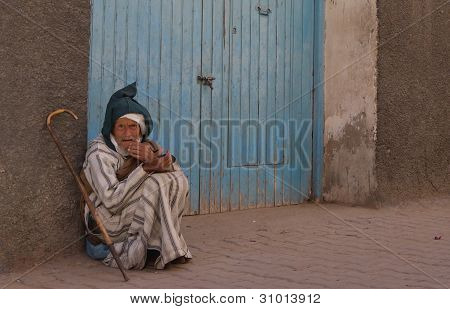 old beggar Morocco