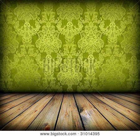 Dark Vintage Green Room