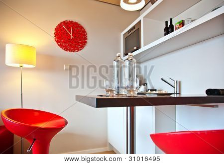 Bar In  Kitchen