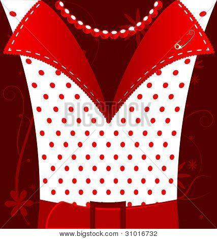 weiß-rote Hintergrund weibliche Phantasie