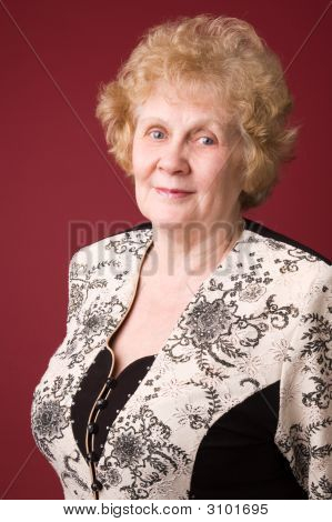The Cheerful Elderly Woman.