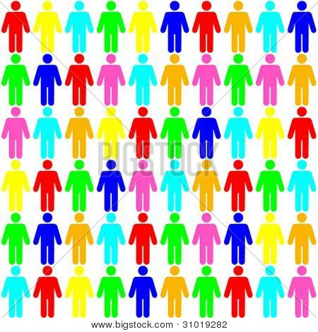 background - seamless color pattern of  human figures