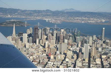San Francisco skyline from the air