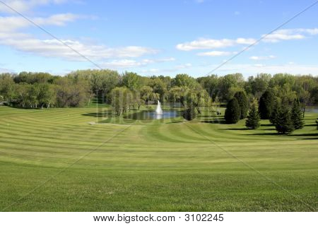 Golf Fairway To The Green