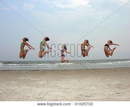 hoch springen