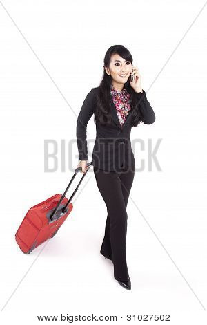 Businesswoman On A Business Trip