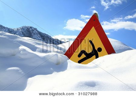 """Slippery Surface"" road sign"