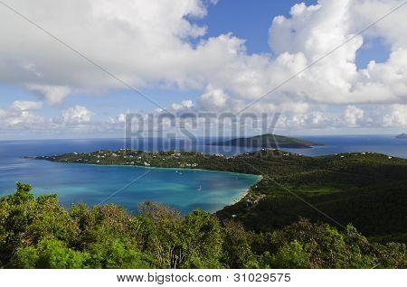 View of Magens Bay on St Thomas, USVI