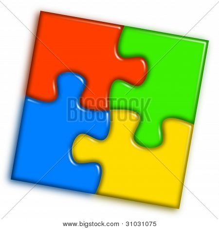 kombinierte Multi Color puzzle