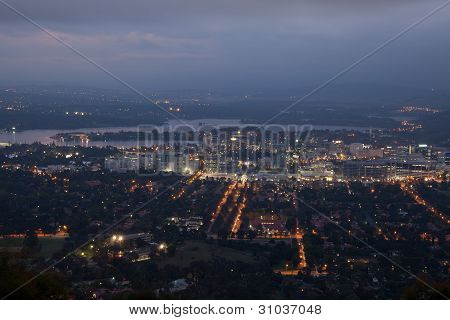 Mt Ainslie Lookout Canberra City at Night