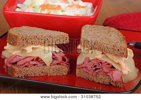 Lunch Meat And Cheese Sandwich