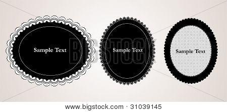 Black elegant doily