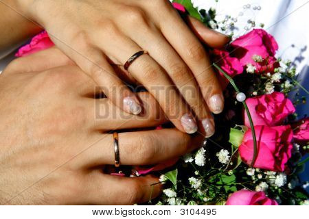 Hands Of Bride And  Bridegroom