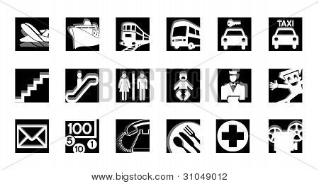 service icons bw