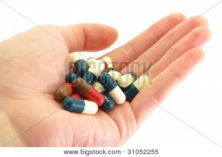 Capsules Pills medicine in hand