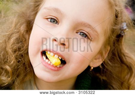The Little Girl With A Candy