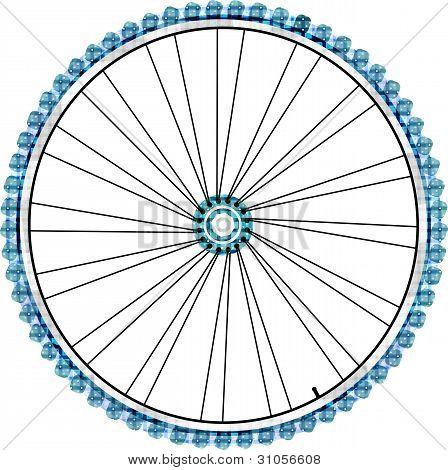 Fahrrad Rad isolated on white Background. Vektor