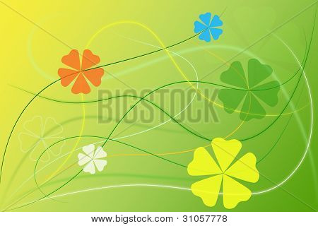 Abstract Green Floral Background Wallpaper