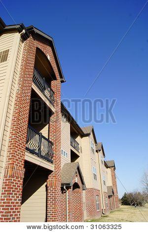 Tall Apartment Brick Building Complex