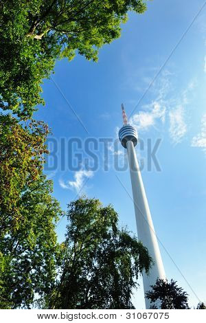 tv tower antena building in germany