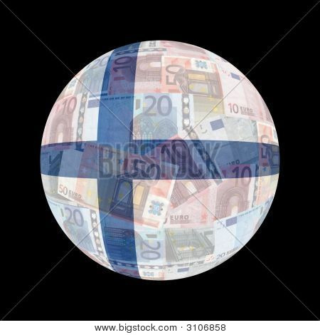 Finnish Flag On Euros
