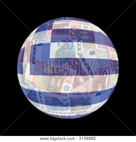 Greek Flag On Euros
