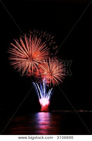 Ice Cream On Cone Fireworks