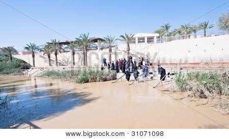 Baptized People In Jesus Christ Baptism Site In Jordan River