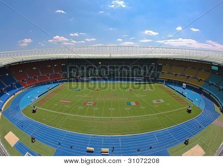 VIENNA, AUSTRIA - JULY 16: A view from the roof of Ernst-Happel-Stadium at the Football World Championship on July 16, 2011 in Vienna, Austria.