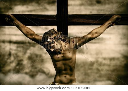 a representation of Jesus Christ in the holy cross