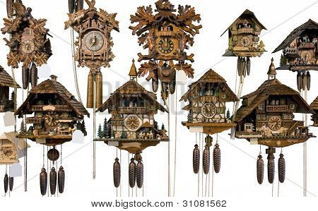 Various Cuckoo Clocks