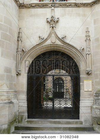 Ornate medieval gateway