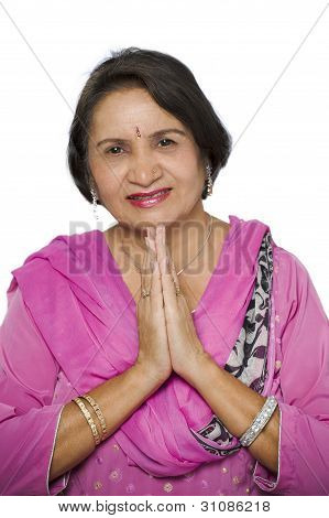 Indian Greeting Mature Woman