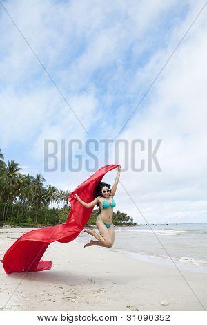 Sexy Woman Enjoying Freedom