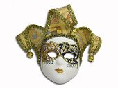 image of mardi gras mask  - beautiful venetian mask isolated on white - JPG