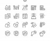 Keto Diet Well-crafted Pixel Perfect Vector Thin Line Icons 30 2x Grid For Web Graphics And Apps. Si poster