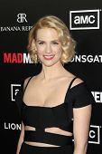 LOS ANGELES, CA - MAR 14: January Jones arrives at AMC's special screening of 'Mad Men' season 5 hel