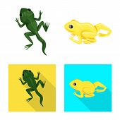 Isolated Object Of Wildlife And Bog Sign. Set Of Wildlife And Reptile Stock Vector Illustration. poster