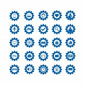 Set Of Setting Icon Isolated On White Background, Setting Icon Vector Illustrations, Setting Icon Co poster
