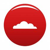 Cumulus Cloud Icon. Simple Illustration Of Cumulus Cloud Vector Icon For Any Design Red poster