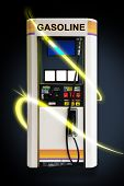 stock photo of high-octane  - Gas pump concept image with glowing beams - JPG