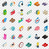 Deposit Icons Set. Isometric Style Of 36 Deposit Vector Icons For Web For Any Design poster